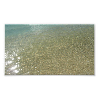 Water on the Beach I Abstract Nature Photography Photo Print