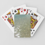 Water on the Beach I Abstract Nature Photography Playing Cards