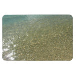 Water on the Beach I Abstract Nature Photography Rectangular Photo Magnet