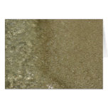 Water on the Beach II Abstract Nature Photography Card