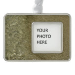 Water on the Beach II Abstract Nature Photography Silver Plated Framed Ornament