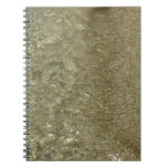 Water on the Beach II Abstract Nature Photography Spiral Notebook