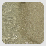 Water on the Beach II Abstract Nature Photography Square Sticker