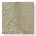 Water on the Beach II Abstract Nature Photography Stone Coaster
