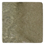 Water on the Beach II Abstract Nature Photography Trivet