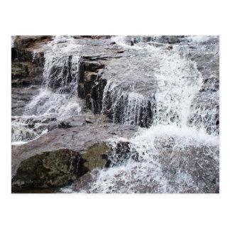 Water on the rocks Postcard