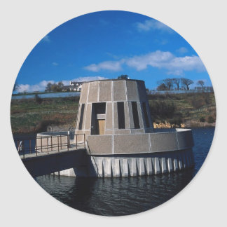 Water outlet and control, Queen's Valley Reservoir Round Stickers