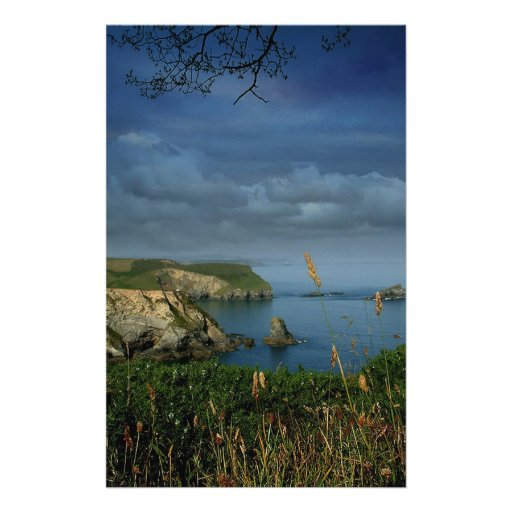 Water Over Sea Cliffs Customized Stationery