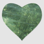 Water over Sea Grass Heart Sticker
