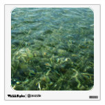 Water over Sea Grass I Blue and Green Nature Photo Wall Decal