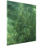 Water over Sea Grass II (Blue and Green) Photo Canvas Print