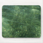 Water over Sea Grass II (Blue and Green) Photo Mouse Pad