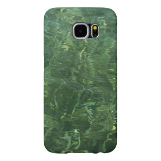 Water over Sea Grass II (Blue and Green) Photo Samsung Galaxy S6 Case