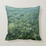 Water over Sea Grass Pillow