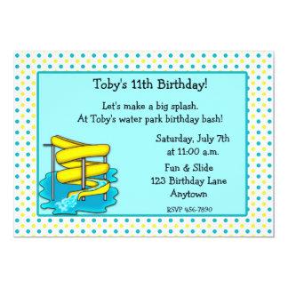 "Water Park Birthday Invitation 5"" X 7"" Invitation Card"