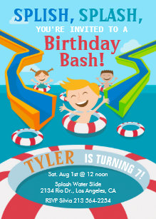 Water Slide Invitations