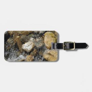 Water Pebble Stream Luggage Tag