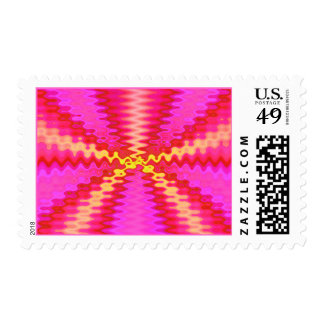 water pink abstract stamps