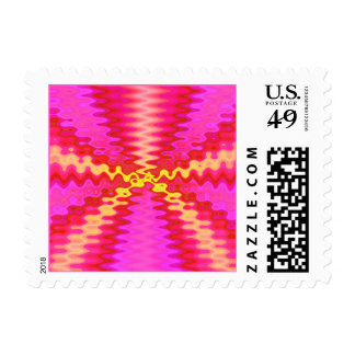 water pink postage stamps
