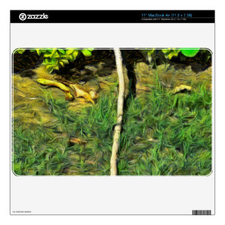 Water pipe in a garden MacBook air decal