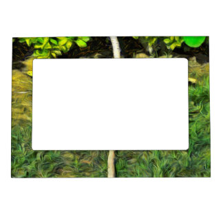Water pipe in a garden magnetic picture frame