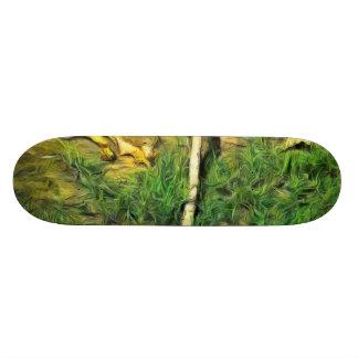 Water pipe in a garden skateboard
