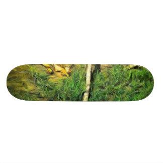 Water pipe in a garden skateboard deck