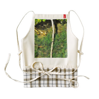 Water pipe in a garden zazzle HEART apron