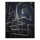 Water Pipeline Maze Poster