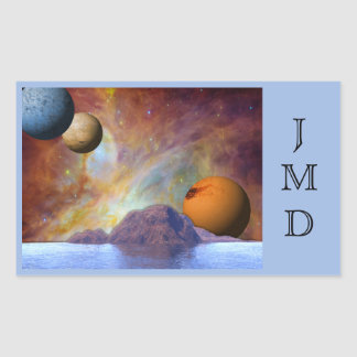 Water Planet Gaseous Skies Rectangular Sticker