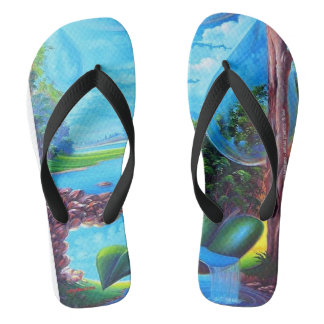 WATER PLANET series by Leomariano Flip Flops