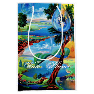 WATER PLANET series by Leomariano Medium Gift Bag