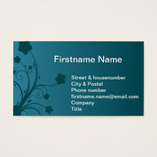 Water plant flower in the blue ocean business card