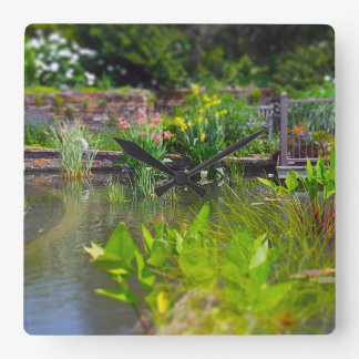 Water Plants in Pond Powell Gardens Kansas City Square Wallclock