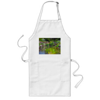 Water Plants in Pond Powell Gardens, Kansas City Long Apron