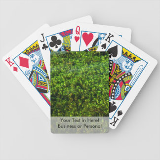 Water plants underwater in pond bicycle playing cards