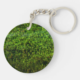 Water plants underwater in pond Double-Sided round acrylic keychain