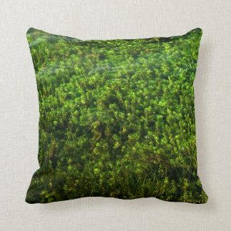 Water plants underwater in pond throw pillow