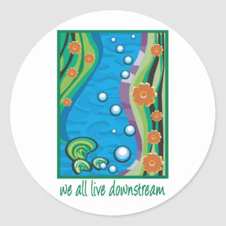 Water Pollution Classic Round Sticker