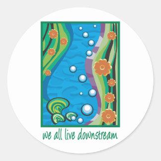 Water Pollution Classic Round Sticker