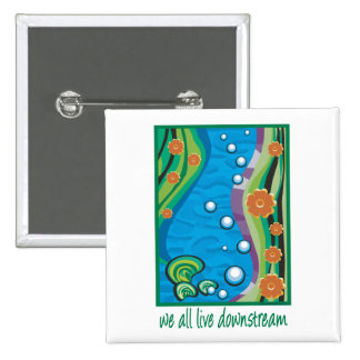 Water Pollution Pinback Button