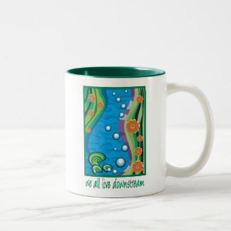 Water Pollution Two-Tone Coffee Mug