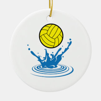 Water Polo Ball Ceramic Ornament