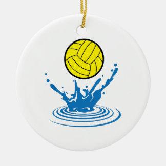 Water Polo Ball Ceramic Ornament