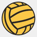 Water polo ball classic round sticker