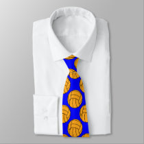 Water Polo Ball Patterned Custom Tie