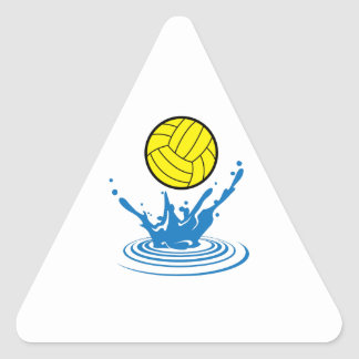Water Polo Ball Triangle Stickers