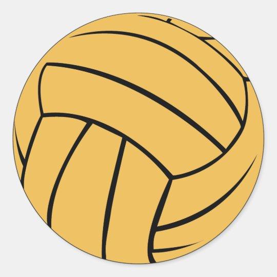 water polo ball sticker zazzle com rh zazzle com Water Polo Ball Outline Water Polo Ball Outline