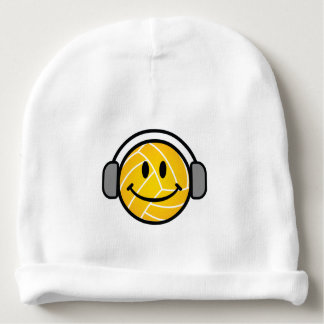 Water polo ball with head phones baby hat