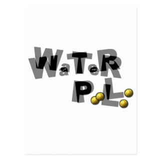 Water polo blur post card